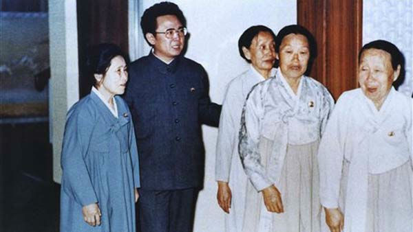 In this April 25, 1980 photo from North Korea&#39;s official Korean Central News Agency, distributed by Korea News Service, leader Kim Jong Il sympathizes with anti-Japanese revolutionary women fighters. &#40;Korean Central News Agency&#47;Korea News Service via AP Images&#41; <span class=meta>(AP Photo&#47; Anonymous)</span>