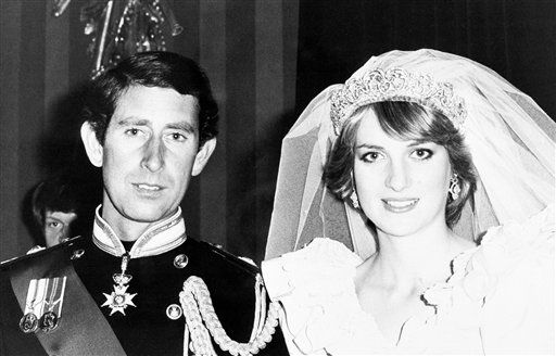 Prince Charles and the Princess of Wales waiting for their wedding portrait in Buckingham Palace in London on July 29, 1981 after their wedding at St. Paul?s Cathedral. &#40;AP Photo&#47;Press Association&#41; <span class=meta>(AP Photo&#47; IP MT, CB. KEY V, D. XMEH)</span>