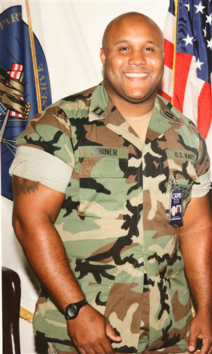 "<div class=""meta ""><span class=""caption-text "">This undated photo released by the Los Angeles Police Department shows suspect Christopher Dorner, a former Los Angeles officer.  Dorner, who was fired from the LAPD in 2008 for making false statements, is linked to a weekend killing in which one of the victims was the daughter of a former police captain who had represented him during the disciplinary hearing. Authorities believe Dorner opened fire early Thursday on police in cities east of Los Angeles, killing an officer and wounding another.  Police issued a statewide ""officer safety warning"" and police were sent to protect people named in the posting that was believed to be written by Dorner.    (AP Photo/ HOPD)</span></div>"