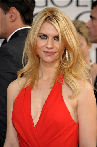 "<div class=""meta ""><span class=""caption-text "">Actress Claire Danes arrives at the 70th Annual Golden Globe Awards at the Beverly Hilton Hotel on Sunday Jan. 13, 2013, in Beverly Hills, Calif. (Photo by John Shearer/AP)</span></div>"