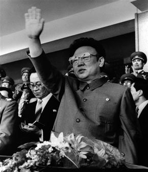 In this April 25, 1992 photo from North Korea&#39;s official Korean Central News Agency, distributed by Korea News Service, leader Kim Il Sung salutes the military parade that celebrates the 60th anniversary of the &#40;North&#41; Korean People&#39;s Army held at Pyongyang Square, North Korea. &#40;Korean Central News Agency&#47;Korea News Service via AP Images&#41; <span class=meta>(AP Photo&#47; Anonymous)</span>
