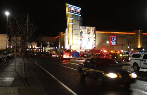 "<div class=""meta ""><span class=""caption-text "">An Oregon State police car leaves the parking lot where a gunman opened fire at the Clackamas Town Center shopping mall earlier in Portland, Ore., Tuesday, Dec. 11, 2012. Police say three people are dead, including the gunman. (AP Photo/Don Ryan)</span></div>"