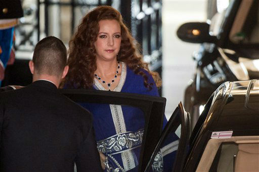 "<div class=""meta ""><span class=""caption-text "">Princess Lalla Salma of Morocco leaves the Grand Ducal Palace in Luxembourg, Saturday Oct. 20, 2012. Royalty from Europe, the Middle East and Japan have arrived in the tiny country to celebrate the wedding ceremonies of the heir to the throne Prince Guillaume to Belgian Countess Stephanie de Lannoy. (AP Photo/Geert Vanden Wijngaert) (AP Photo)</span></div>"