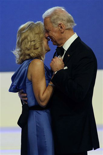 Vice President Joe Biden dances with Jill Biden during The Inaugural Ball in the Washington convention center during the 57th Presidential Inauguration in Washington, Monday, Jan. 21, 2013. &#40;AP Photo&#47;Paul Sancya&#41; <span class=meta>(AP Photo&#47; Paul Sancya)</span>