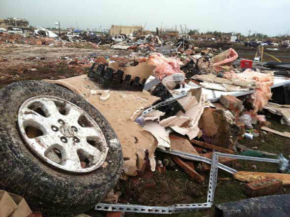 ABC13 reporter Art Rascon shot this photo of the aftermath of Monday's tornadoes in Oklahoma.