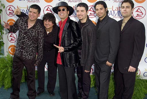 Tajano band la Mafia poses as they arrive at the 3rd annual Latin Grammy Awards Wednesday, Sept. 18, 2002, in the Hollywood district of Los Angeles. The group is nominated for best tejano album. <span class=meta>(AP Photo&#47;Kim D. Johnson)</span>