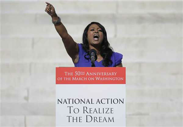 Ohio state Rep. Alicia Reece, D-Cincinnati, speaks during an event to commemorate the 50th anniversary of the 1963 March on Washington at the Lincoln Memorial, Saturday, Aug. 24, 2013, in Washington. &#40;AP Photo&#47;Carolyn Kaster&#41; <span class=meta>(Photo&#47;Carolyn Kaster)</span>