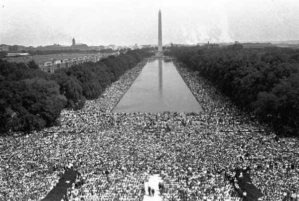 Crowds are shown in front of the Washington Monument during the March on Washington for civil rights, August 28, 1963.  &#40;AP Photo&#41; <span class=meta>(Photo&#47;Anonymous)</span>