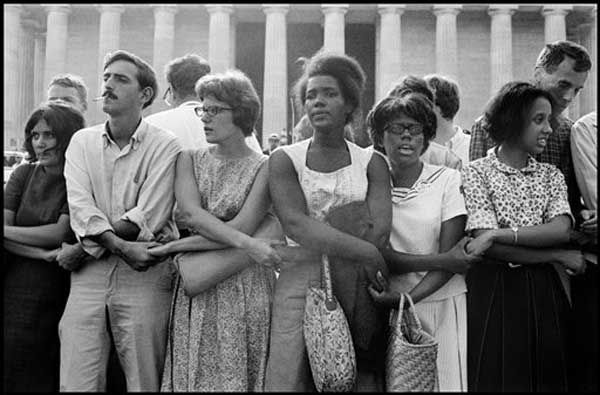 This August 28, 1963 publicity photo provided by PBS, courtesy Leonard Freed&#47;Magnum Photos, shows activists during The March on Washington in Washington, D.C. from the film,&#34;Makers: Women Who Make America.&#34; The Women?s Movement was influenced in part by the Civil Rights Movement. The three-hour PBS documentary about the fight for women&#39;s equality, airs Tuesday, Feb. 26, 2013, and features prominent activists including Gloria Steinem and Marlo Thomas. &#40;AP Photo&#47;PBS, Courtesy Leonard Freed, Magnum Photos&#41; <span class=meta>(Leonard Freed&#47;Magnum Photos)</span>