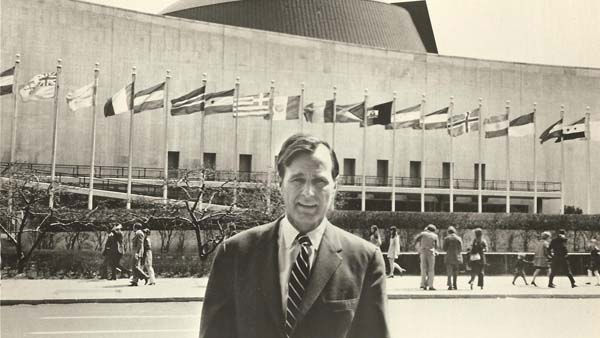 Former President George H.W. Bush at United Nations &#40;1971-72&#41; <span class=meta>(KTRK political consultant Peter Roussel)</span>