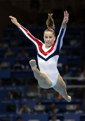 Carly Patterson of the United States competes in the balance beam during the women&#39;s gymnastics individual apparatus finals at the 2004 Summer Olympic Games in Athens, Monday, Aug. 23, 2004. Patterson won the silver. &#40;AP Photo&#47;Amy Sancetta&#41; <span class=meta>(AP Photo&#47; AMY SANCETTA)</span>