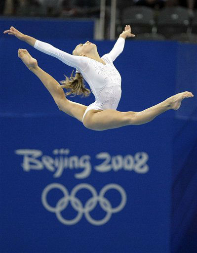U.S. gymnast Nastia Liukin performs on the balance beam during the gymnastics apparatus finals at the Beijing 2008 Olympics  in Beijing, Tuesday, Aug. 19, 2008. Liukin won the silver medal. &#40;AP Photo&#47;Matt Dunham&#41; <span class=meta>(AP Photo&#47; Matt Dunham)</span>
