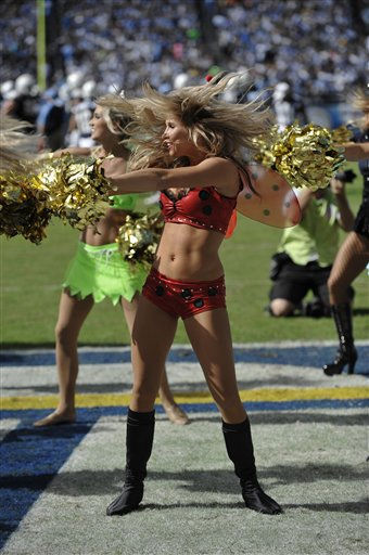 San Diego Chargers cheerleaders wearing halloween costumes during an  NFL football game between the San Diego Chargers and Tennessee Titans Sunday, Oct. 31, 2010, in San Diego.  <span class=meta>(AP Photo&#47; Denis Poroy)</span>