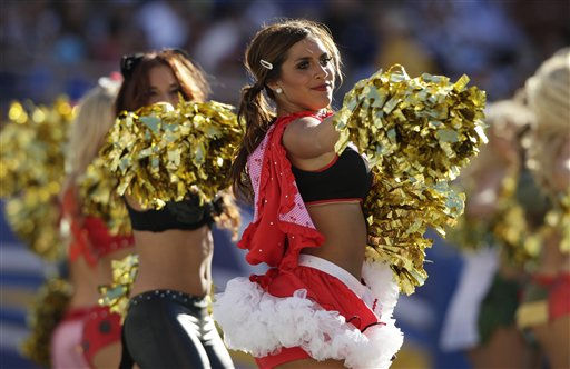 "<div class=""meta ""><span class=""caption-text "">San Diego Chargers cheerleaders perform wearing Halloween costumes as the Chargers play the Tennessee Titans in an NFL football game Sunday, Oct. 31, 2010, in San Diego.  (AP Photo/ Gregory Bull)</span></div>"