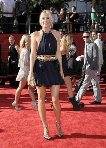"<div class=""meta image-caption""><div class=""origin-logo origin-image ""><span></span></div><span class=""caption-text"">Tennis player Maria Sharapova arrives at the ESPY awards on Wednesday, July 13, 2011, in Los Angeles. (AP Photo/Dan Steinberg) (AP Photo/ Dan Steinberg)</span></div>"