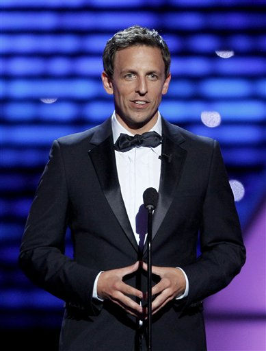 "<div class=""meta image-caption""><div class=""origin-logo origin-image ""><span></span></div><span class=""caption-text"">Host Seth Meyers at the ESPY Awards on Wednesday, July 13, 2011, in Los Angeles. (AP Photo/Matt Sayles) (AP Photo/ Matt Sayles)</span></div>"