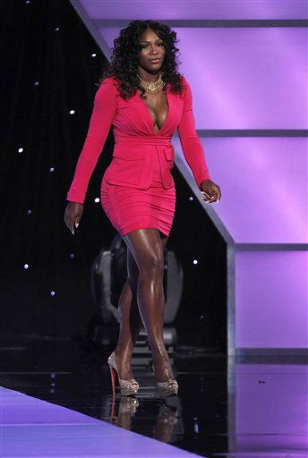 "<div class=""meta ""><span class=""caption-text "">Tennis star Serena Williams is seen on stage at the ESPY Awards on Wednesday, July 13, 2011, in Los Angeles. (AP Photo/Matt Sayles) (AP Photo/ Matt Sayles)</span></div>"
