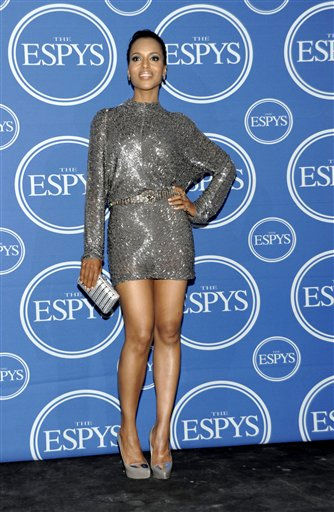 Kerry Washington is seen backstage at the ESPY awards on Wednesday, July 13, 2011, in Los Angeles. &#40;AP Photo&#47;Dan Steinberg&#41; <span class=meta>(AP Photo&#47; Dan Steinberg)</span>