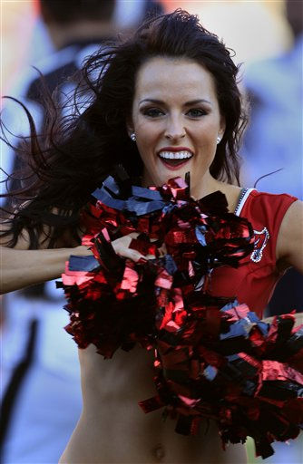 A Tampa Bay Buccaneers cheerleader during the fourth quarter of an NFL football game against the Houston Texans Sunday, Nov. 13, 2011, in Tampa, Fla. &#40;AP Photo&#47;Chris O&#39;Meara&#41; <span class=meta>(AP Photo&#47; Chris O&#39;Meara)</span>