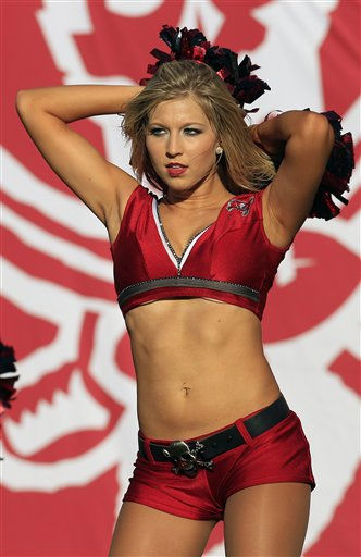 Tampa Bay Buccaneers cheerleader preforms during the third quarter of an NFL football game against the Houston Texans Sunday, Nov. 13, 2011, in Tampa, Fla. &#40;AP Photo&#47;Chris O&#39;Meara&#41; <span class=meta>(AP Photo&#47; Chris O&#39;Meara)</span>