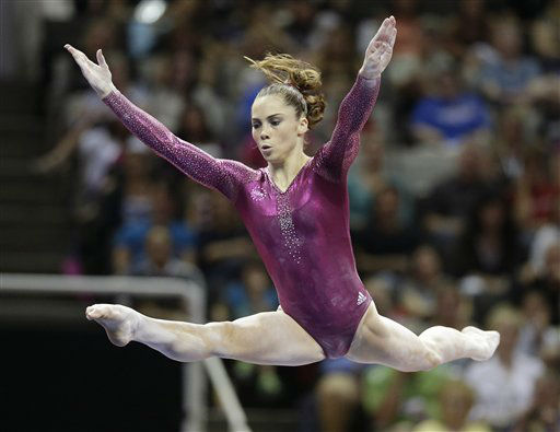 "<div class=""meta image-caption""><div class=""origin-logo origin-image ""><span></span></div><span class=""caption-text"">McKayla Maroney performs in the floor exercise event 147during the final round of the women's Olympic gymnastics trials, Sunday, July 1, 2012, in San Jose, Calif. Maroney was named to the U.S. Olympic gymnastics team.  (AP Photo/Jae C. Hong) (AP Photo/ Jae C. Hong)</span></div>"