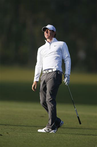 "<div class=""meta ""><span class=""caption-text "">Rory Mcllroy reacts to a shot on the 12th hole the during the second round of the Houston Open golf tournament, Friday, March 29, 2013 in Humble, Texas.   (AP Photo/ Jon Eilts)</span></div>"