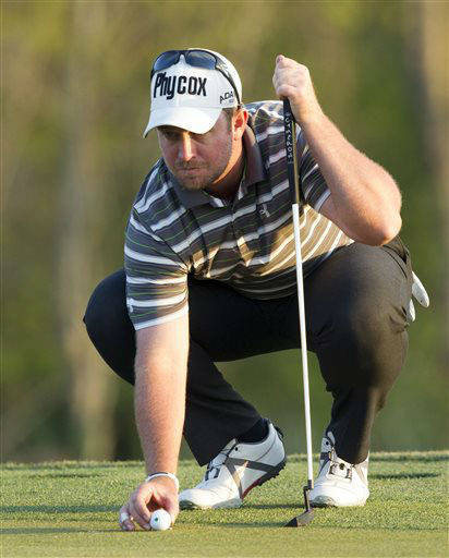 "<div class=""meta ""><span class=""caption-text "">Steve Wheatcroft prepares to putt on the 15th hole during the first round of the Houston Open golf tournament, Thursday, March 28, 2013, in Humble, Texas  (AP Photo/ Bob Levey)</span></div>"