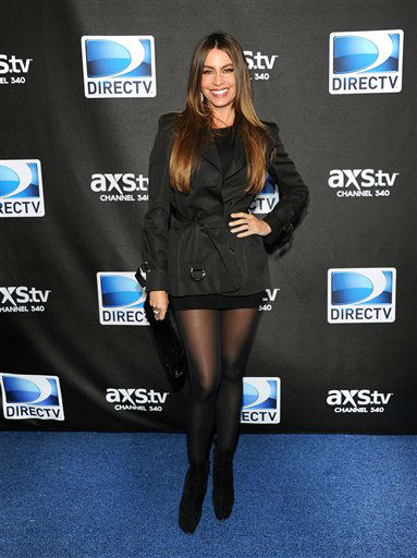 Actress Sof&#237;a Vergara arrives at DirecTV&#39;s Super Saturday Night party on Saturday, Feb. 2, 2013 in New Orleans.   <span class=meta>(Photo&#47;Evan Agostini)</span>