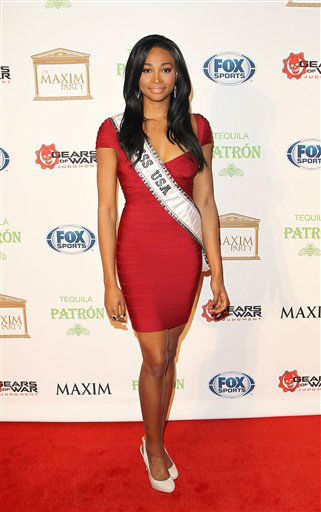 Nana Meriwether arrives to The Maxim Party presented by Patron Tequila, on Saturday, Feb. 2, 2013 in New Orleans.  <span class=meta>(AP photo)</span>