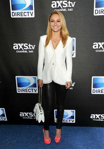 Actress Hayden Panettiere arrives at DirecTV&#39;s Super Saturday Night party on Saturday, Feb. 2, 2013 in New Orleans.  <span class=meta>(AP photo)</span>