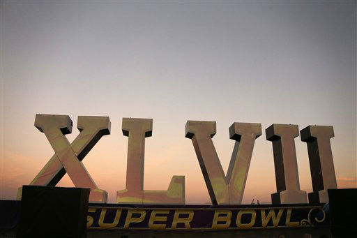 "<div class=""meta image-caption""><div class=""origin-logo origin-image ""><span></span></div><span class=""caption-text"">A  Super Bowl XLVII sculpture sits on a barge along the Riverwalk , Saturday, Feb. 2, 2013, in New Orleans. The Baltimore Ravens play the San Francisco 49ers in NFL football's Super Bowl XLVII on Sunday. (AP Photo/Gene J. Puskar) (AP Photo/ Gene J. Puskar)</span></div>"