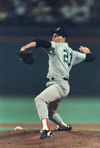 Boston Red Sox pitcher Roger Clemens delivers a pitch in the first inning of Tuesday night&#39;s All-Star game in Houston, Texas, July 15, 1986.  &#40;AP Photo&#47;F. Carter Smith&#41; <span class=meta>(AP Photo&#47; F. CARTER SMITH)</span>