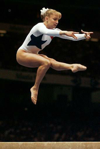 "<div class=""meta image-caption""><div class=""origin-logo origin-image ""><span></span></div><span class=""caption-text"">Shannon Miller, of Edmond, Okla., performs her routine on the balance beam during the women's individual event gymnastics finals at the Centennial Summer Olympic Games in Atlanta Monday, July 29, 1996. Miller captured the gold in the event. (AP Photo/Elise Amendola) (AP Photo/ ELISE AMENDOLA)</span></div>"