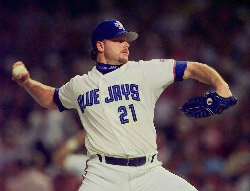 Toronto Blue Jays pitcher Roger Clemens throws to the plate during the third inning of the 68th All-Star Game Tuesday, July 8, 1997 in Cleveland. &#40;AP Photo&#47;Beth Keiser&#41; <span class=meta>(AP Photo&#47; BETH KEISER)</span>