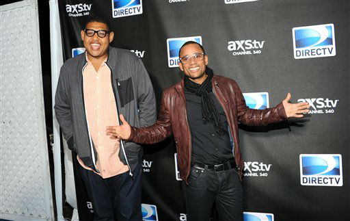 Actors Omar Benson Miller, left, and Hill Harper arrive at DirecTV&#39;s Super Saturday Night party on Saturday, Feb. 2, 2013 in New Orleans. &#40;Photo: Evan Agostini&#47;Invision&#47;AP&#41; <span class=meta>(Photo&#47;Evan Agostini)</span>