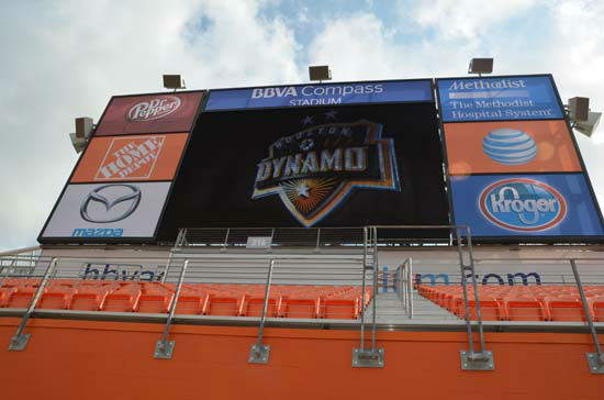 The state-of-art BBVA Compass Stadium was designed to host Dynamo matches as well as additional sporting and concert events. The Dynamo will make their debut at the new stadium on May 12 against D.C. United in a 3:30pm matchup <span class=meta>(KTRK&#47;Blanca Beltran)</span>