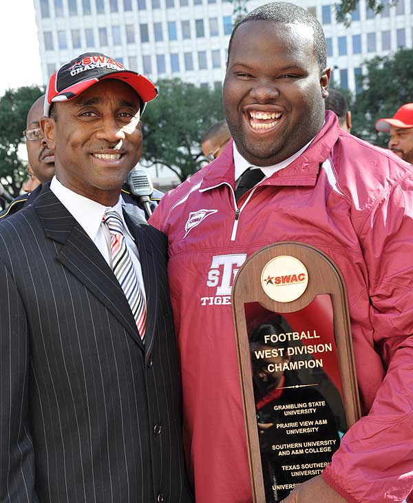 "<div class=""meta ""><span class=""caption-text "">Images of the rally at City Hall for the newly crowned SWAC Champions, the Texas Southern University Tigers. </span></div>"