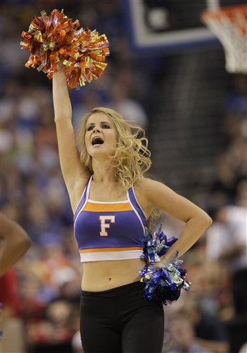 A Florida cheerleader performs during a third-round Southeast regional NCAA tournament college basketball game against UCLA in Tampa, Fla., Saturday March 19, 2011. &#40;AP Photo&#47;John Raoux&#41; <span class=meta>(AP Photo&#47; John Raoux)</span>