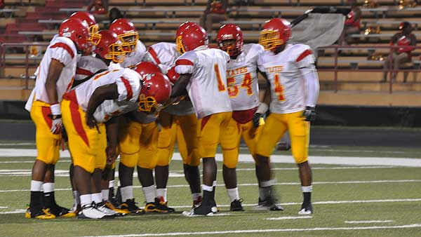 Images from Friday night's showdown between the Yates Lions and Sharpstown Apollos at Butler Stadium