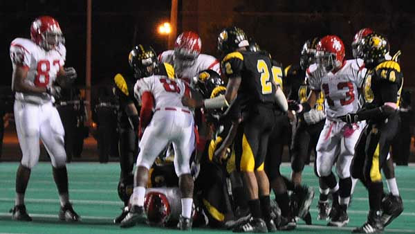 Images from Friday night's clash between Hastings and Taylor at Crump Stadium