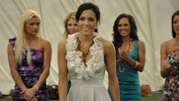 The 2011 Houston Texans Cheerleaders were announced and each selected member received a rose <span class=meta>(KTRK Photo)</span>