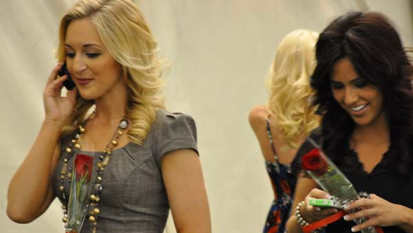 Texans Cheerleaders celebrate their selection for the 2011 team, calling to tell friends and loved ones the good news <span class=meta>(KTRK Photo)</span>