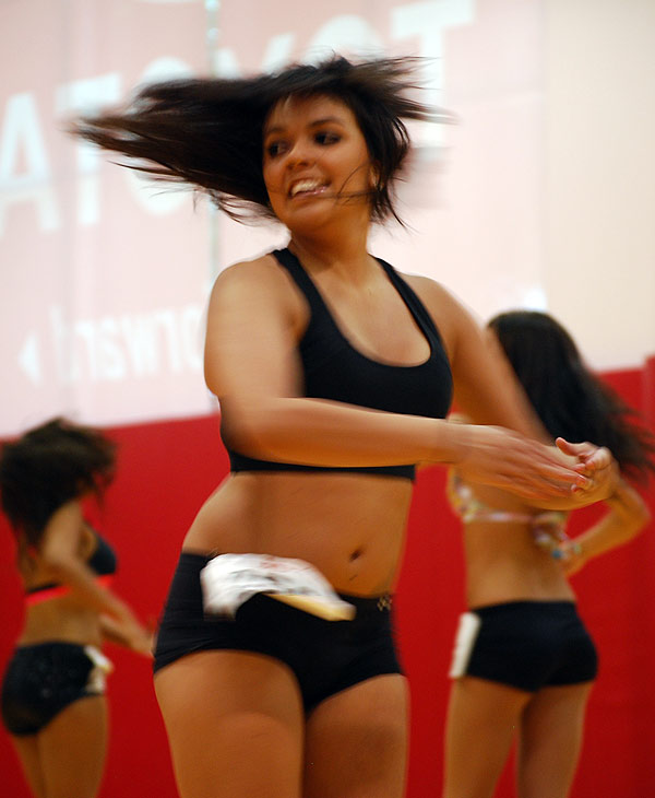 "<div class=""meta ""><span class=""caption-text "">Women turned out in force at the auditions for the Rockets Power Dancers 2010-2011 season at Toyota Center, Sunday, July 11, 2010.</span></div>"