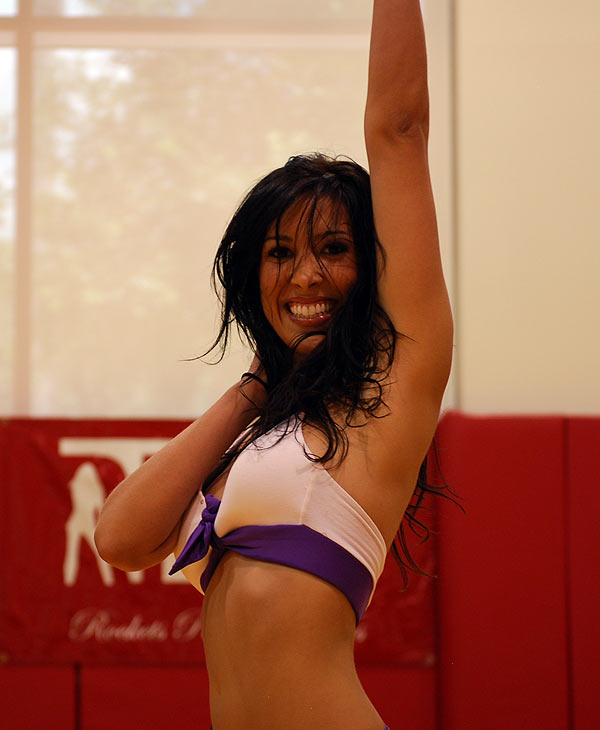 Women turned out in force at the auditions for the Rockets Power Dancers 2010-2011 season at Toyota Center, Sunday, July 11, 2010.
