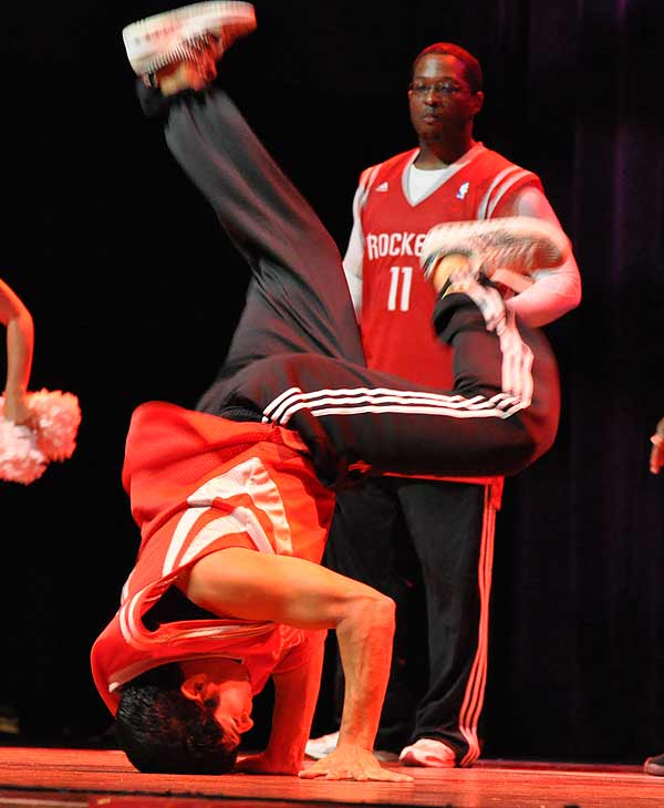 The Houston Rockets hosted the final round of Rockets Power Dancer auditions on Tuesday, July 20, 2010 in the concert hall at the House of Blues. Approximately 30 girls were selected from the open audition to participate in the final audition. By the end of the evening the final 2010-2011 Rockets Power Dancer team was selected and announced to the audience.     Fans also enjoyed performances throughout the night from all of the Houston Rockets entertainers, including the Little Dippers, Launch Crew, Space City Seniors and Clutch the Rockets Bear.