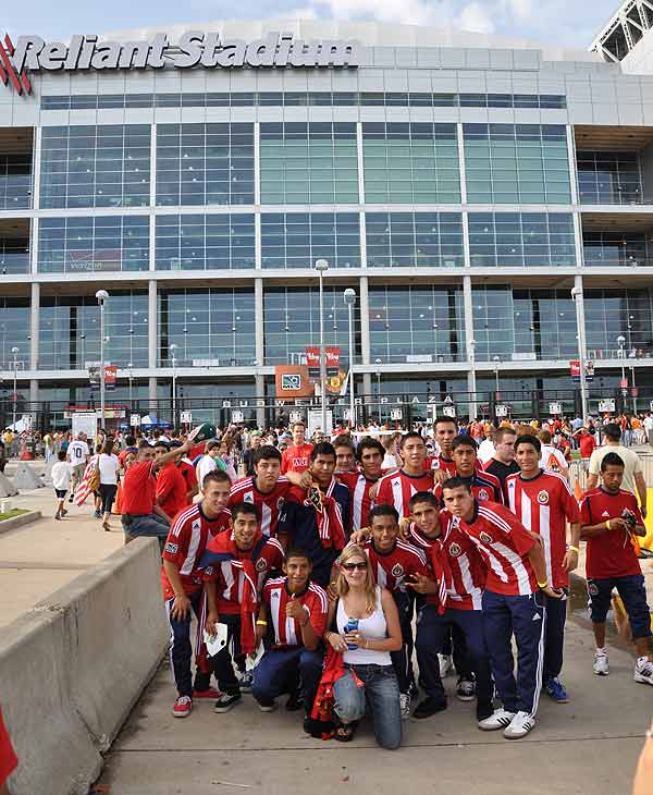 Images of the fans and atmosphere as the MLS All Stars took the pitch against Manchester United at Reliant Stadium. <span class=meta>(ABC13)</span>