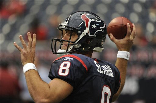 "<div class=""meta image-caption""><div class=""origin-logo origin-image ""><span></span></div><span class=""caption-text"">Houston Texans quarterback Matt Schaub before an NFL football game against the Oakland Raiders Sunday, Oct. 9, 2011, in Houston. (AP Photo/Dave Einsel) (AP Photo/ Dave Einsel)</span></div>"