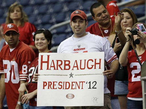 San Francisco 49ers fans before an NFL football game against the Houston Texans Saturday, Aug. 18, 2012, in Houston.   <span class=meta>(AP Photo&#47; Dave Einsel)</span>