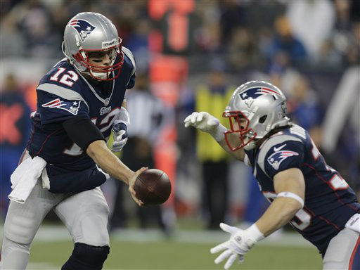 "<div class=""meta image-caption""><div class=""origin-logo origin-image ""><span></span></div><span class=""caption-text"">New England Patriots quarterback Tom Brady (12) hands off to running back Danny Woodhead during the first half of an AFC divisional playoff NFL football game against the Houston Texans in Foxborough, Mass., Sunday, Jan. 13, 2013. (AP Photo/Charles Krupa) (AP Photo/ Charles Krupa)</span></div>"