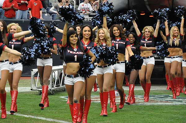 Photos of the Houston Texans cheerleaders getting fans ready for the regular season finale against Tennessee, January 1, 2012. <span class=meta>(Photo&#47;ABC-13)</span>